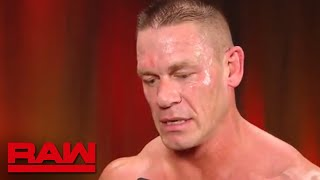 John Cena needs to refocus before entering the Elimination Chamber: Raw, Feb. 19, 2018