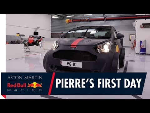 Pierre Gasly's First Day at the Aston Martin Red Bull Racing Factory