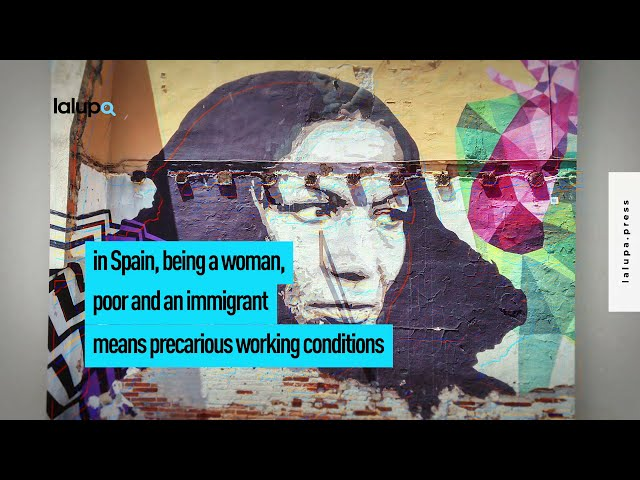 Mujer pobre migrante