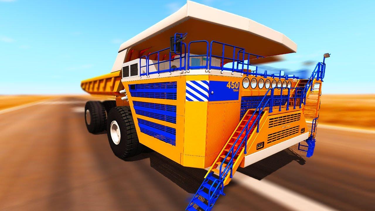BeamNG Drive - 300 MPH BELAZ DUMPTRUCK!