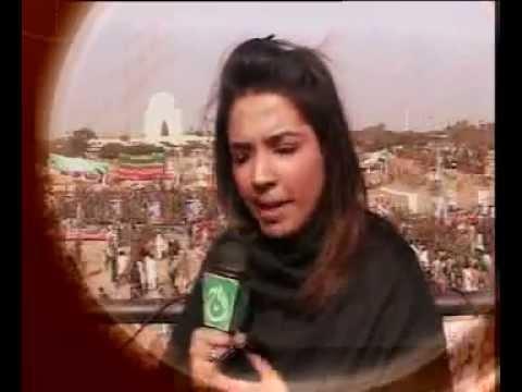 Alina Shigri Aleena MIDDAY AAJ TV Tehre K Insaf Jalsa At Karachi Mazar E Quaid 25 12 11 Showreelmpg