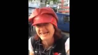 Caterinca cu o femeie nebuna din Bucuresti
