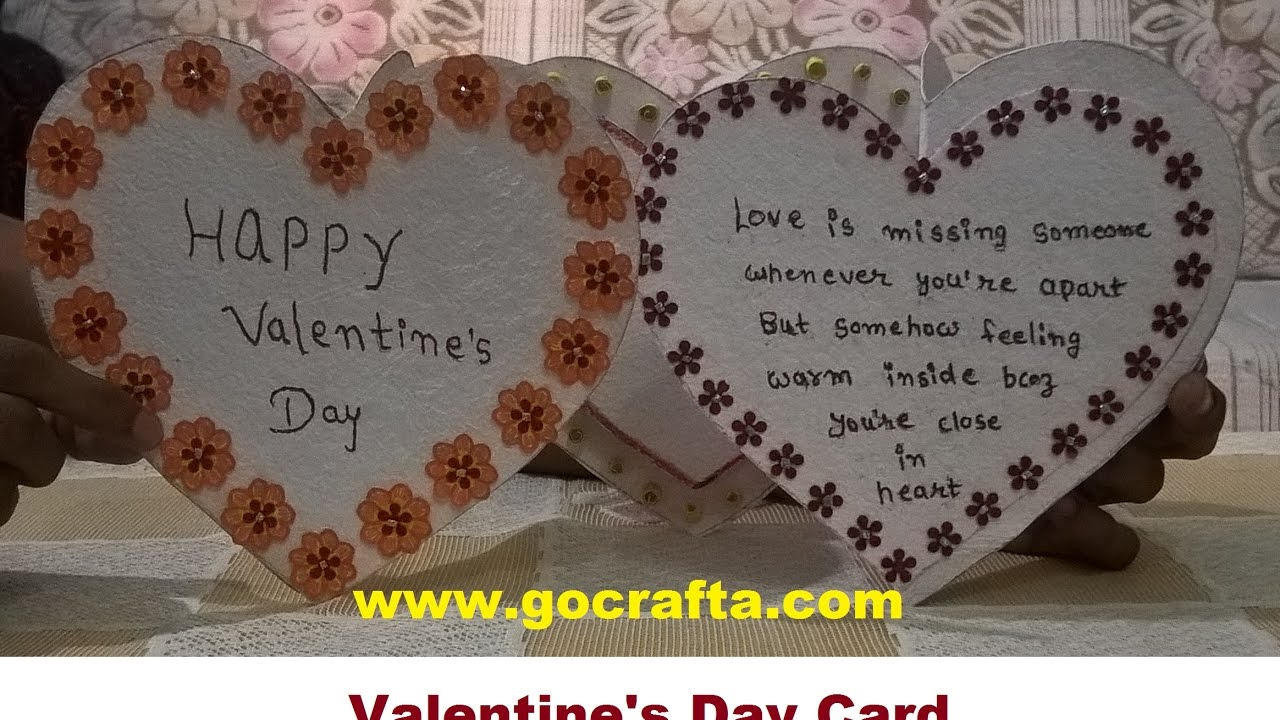 DIY Art and craft – Valentine Cards to Make at Home