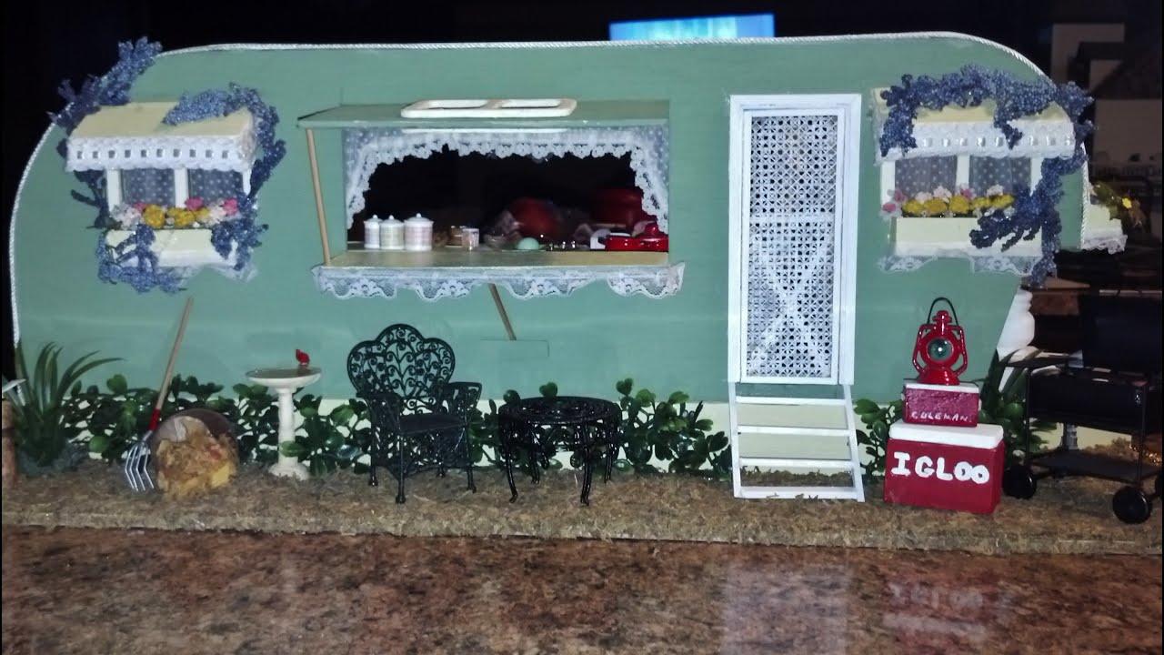 Dollhouse Miniature Camper Kit Youtube