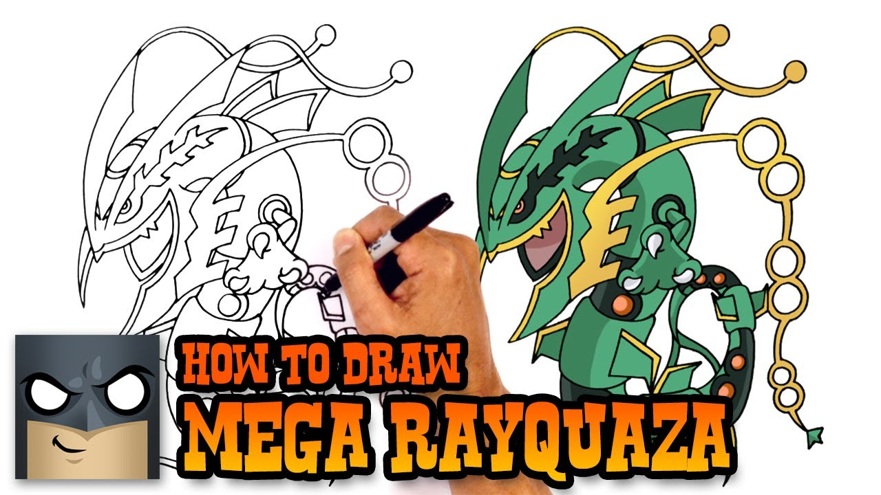 Pictures to draw mega drawing. How rayquaza pokemon