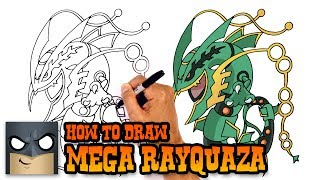 How to Draw Mega Rayquaza | Pokemon
