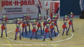 �������� ���� Rock-n-roll formation girls all russia teams ������