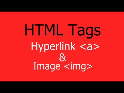 How to Use HTML Hyperlink and Image Tags for website - Hindi/Urdu