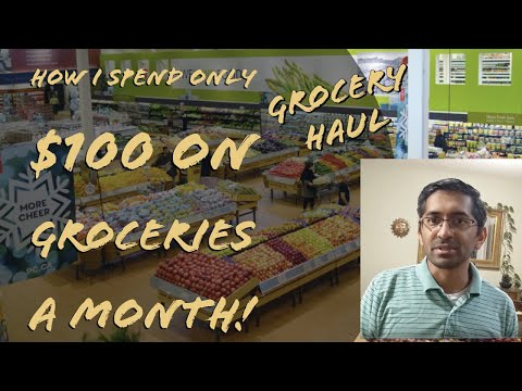 Cost Of Living In Canada | HOW I SPEND ONLY $100 ON GROCERIES A MONTH! (Per Person)#groceryhaul