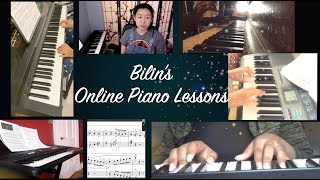 Bilin's Piano Online Lessons Recording (5 Students)