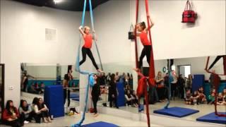 Kayla & Sophia - Kids aerial silks - AVANTI Dance Company