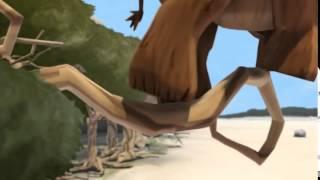 Новый  прикольный мультфильм про первобытных людей  семейный