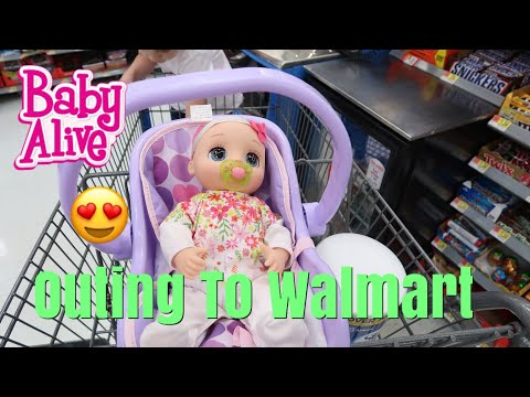 BABY ALIVE Real As Can Be Baby Outing To Walmart Shopping for Outfits