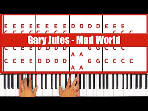 Mad World Gary Jules Piano Tutorial Lesson - PGN Piano