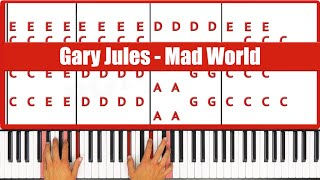 ♫ ORIGINAL+VOCAL - How To Play Mad World Gary Jules Piano Tutorial Lesson - PGN Piano