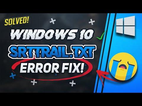 FIX SrtTrail.txt Windows 10 | How To Fix C :/Windows/System32/LogFiles/srt/SrtTrail.txt