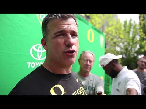 Oregon Ducks football: Mario Cristobal says there's work to do, but sees progress in the trenches