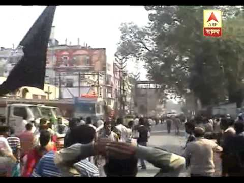 TMC allegedly attack on CPM rally at Kanchrapara