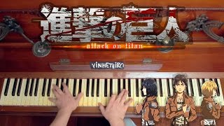 Repeat youtube video Shingeki no Kyojin Opening on Piano - Attack on Titan