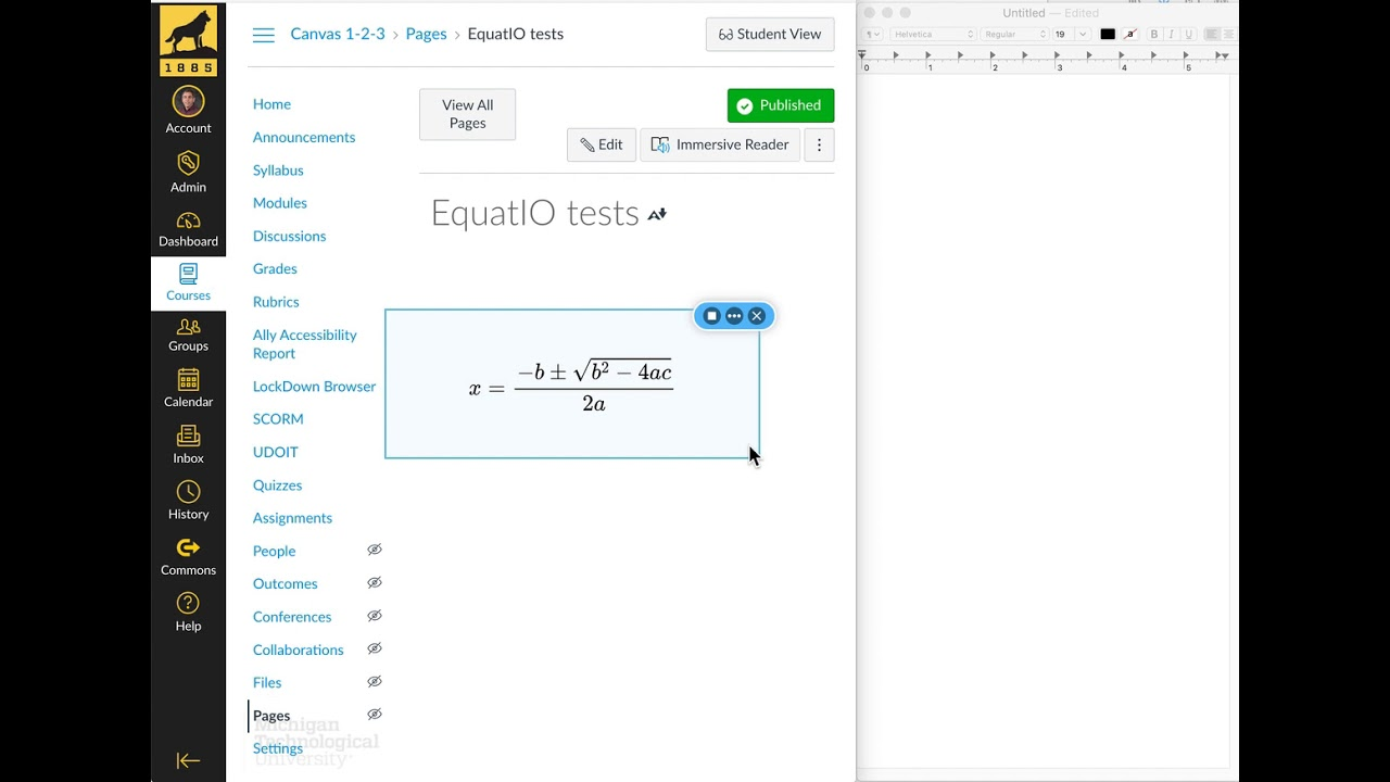 Preview Image for EquatIO screenshot demo