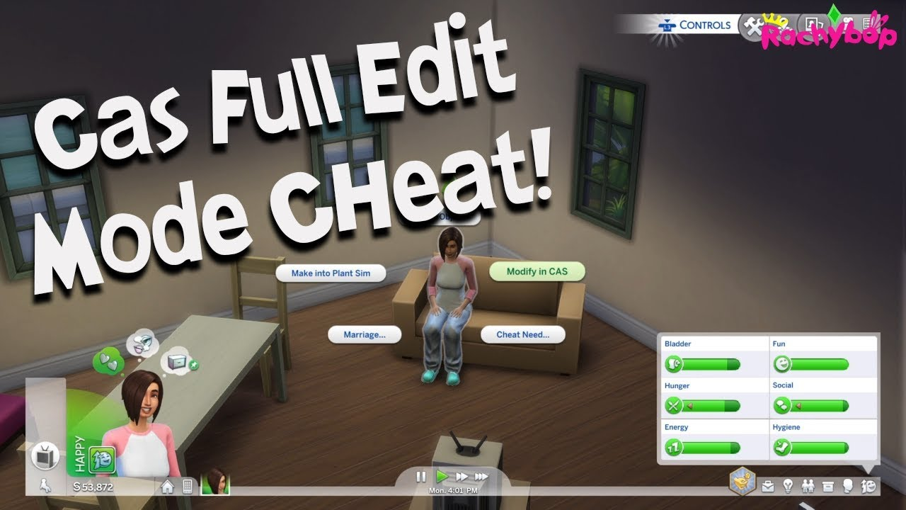 The Sims 4 on console CAS full edit mode CHEAT [PS4]