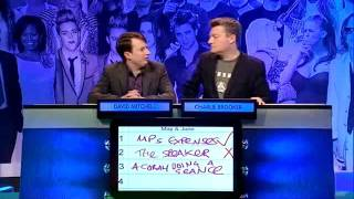 Repeat youtube video Big Fat Quiz of the Year 2009: The Best of David Mitchell & Charlie Brooker