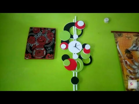 Creative Modern Wall Clock - Wall Clocks Contemporary Design Ideas। Vest is Best essy Made by Home