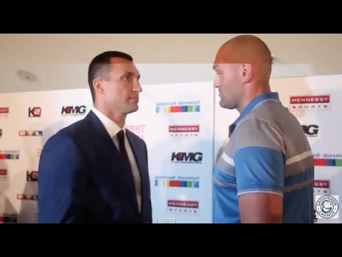 WLADIMIR KLITSCHKO V TYSON FURY OFFICIAL HEAD TO HEAD @  FROM DUSSELDORF - (GERMANY)