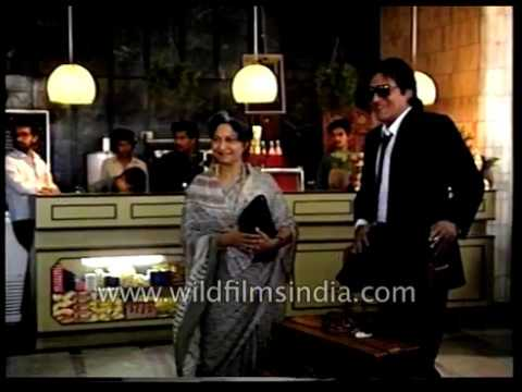 Chandni Hindi feature film being shot: Sridevi, Rishi Kapoor and Vinod Khanna