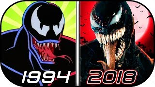 EVOLUTION of VENOM in Movies, TV, Cartoons, Anime (1994-2018) Venom 2018 movie (Eddie Brock