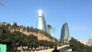アゼルバイジャン共和国バクー市の高層ビル