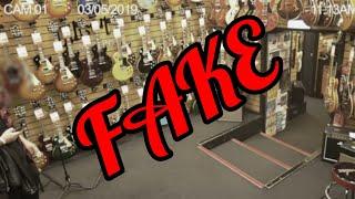 Ghost Caught In Guitar shop | GAK Brighton FAKE