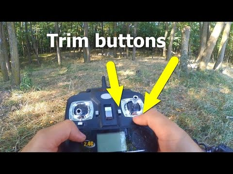 How to use Trim Buttons on Quadcopter Remote Control (BASIC TUTORIAL)
