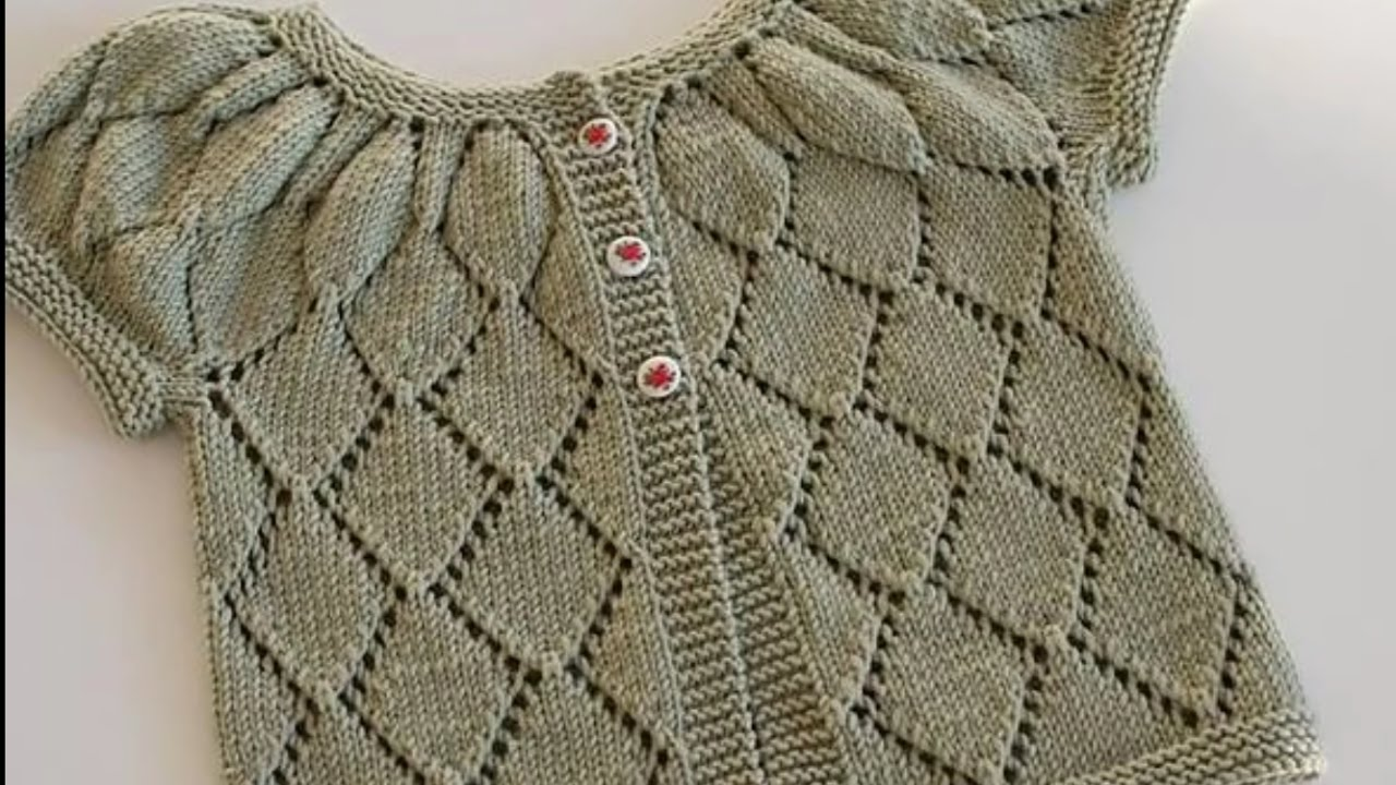 Simple design for woolen sweater for kids or baby in hindi - knitting design pattern - YouTube