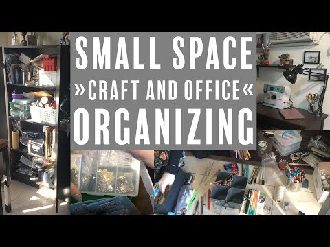 Organizing My Office and Craft Room | Small Space Walkthrough