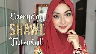 Repeat youtube video Everyday Shawl Tutorial | 2 Hijab Styles