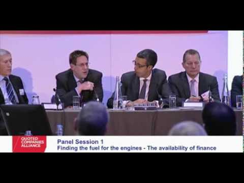 Panel Session 1: Finding the Fuel for the Engines: The Availability of Finance - QCA Conference 2013