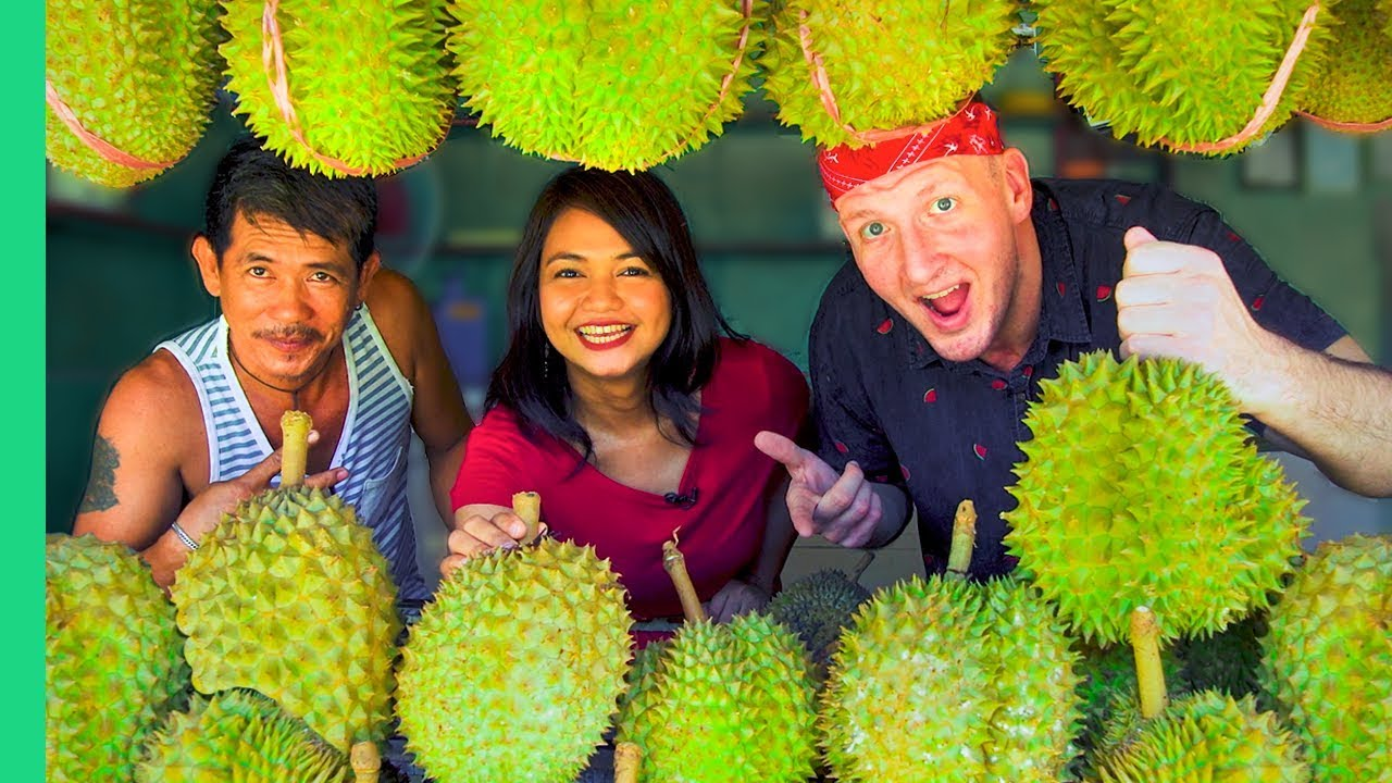 Davao Durian Tour! DURIAN CURRY and other RARE Filipino Food! 😮