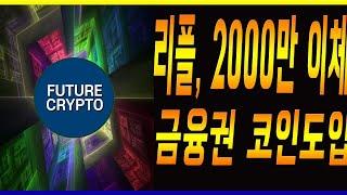 리플코인 공동창업자 크리스 2000만 xrp 이체 , 금융권 코인시장 도입의 움직임