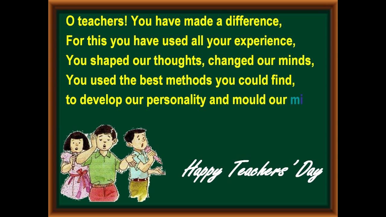 Best Teacher Poems 6