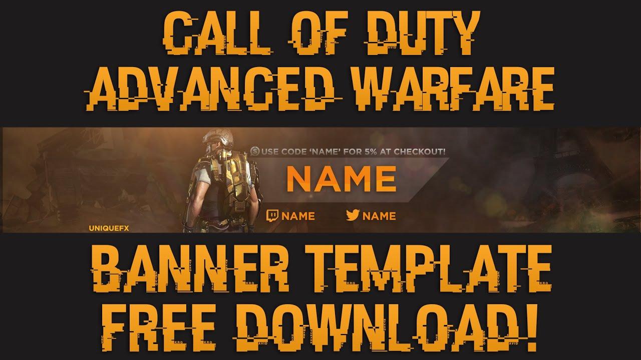 Call Of Duty: Advanced Warfare Banner Template!