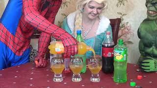 супер коктейль от ХАЛКА ПАУКА и ЭЛЬЗЫ