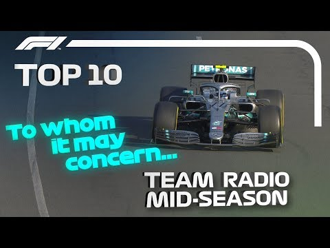 Top 10 Best Team Radio Moments of 2019... So Far!