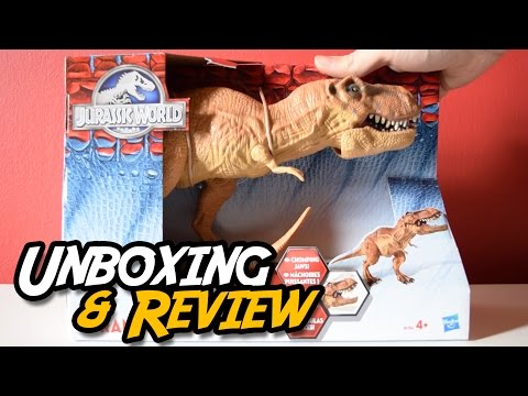 JURASSIC WORLD® | Tyrannosaurus Rex Chomping Jaws | BIG Hasbro® T. Rex Toy | Unboxing & Review
