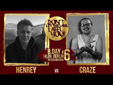Henrey vs Craze // DLTLLY RapBattle (B.Day#6 // Berlin) // 2019