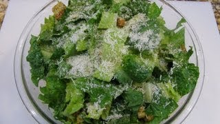Salad ( Caesar Salad With Home Made Dressing) / Cheryls Home Cooking