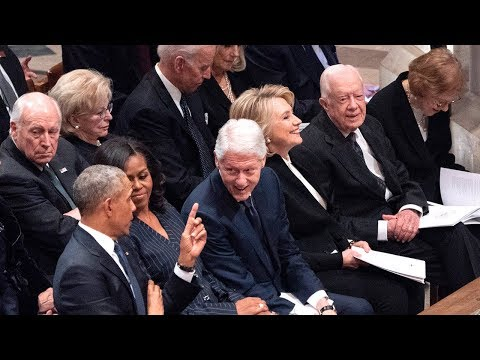 Lip Reader Reveals What Top Leaders Said During President Bush's Funeral