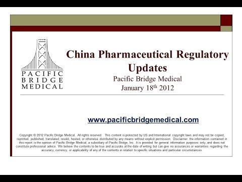 2012 China Pharmaceutical Regulatory Webcast