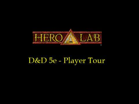 Hero Lab - D&D5e Player Tour