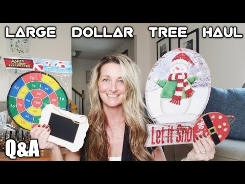Large Dollar Tree Haul and Q&A/ Oct 17